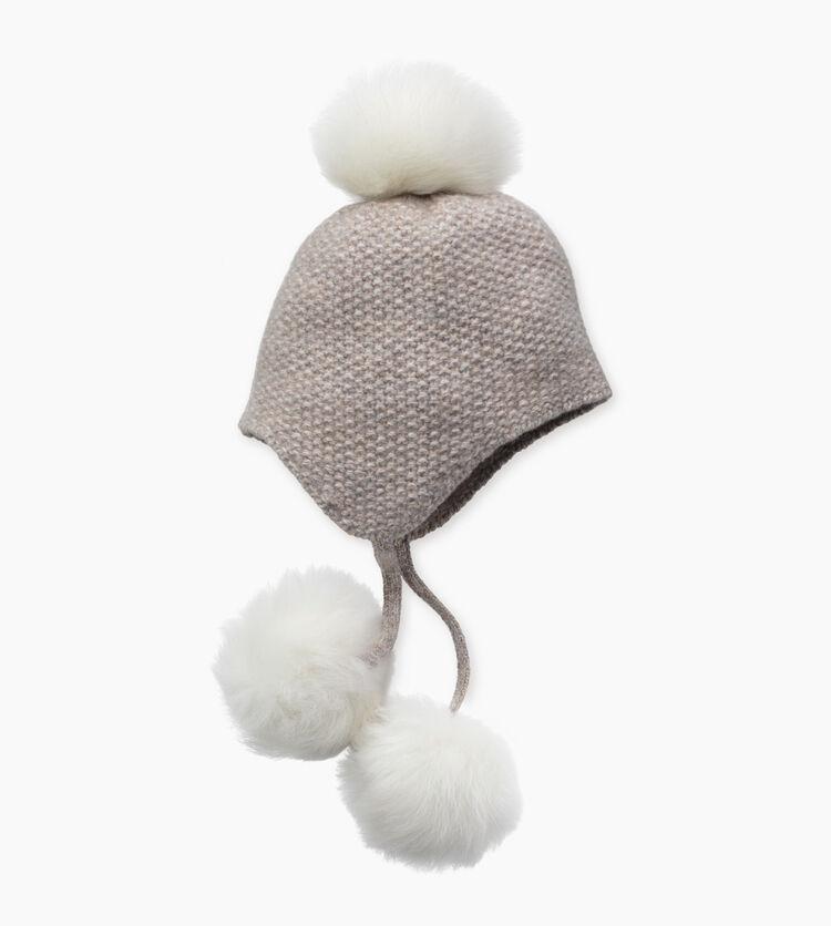 Tri-Pom Cashmere Hat