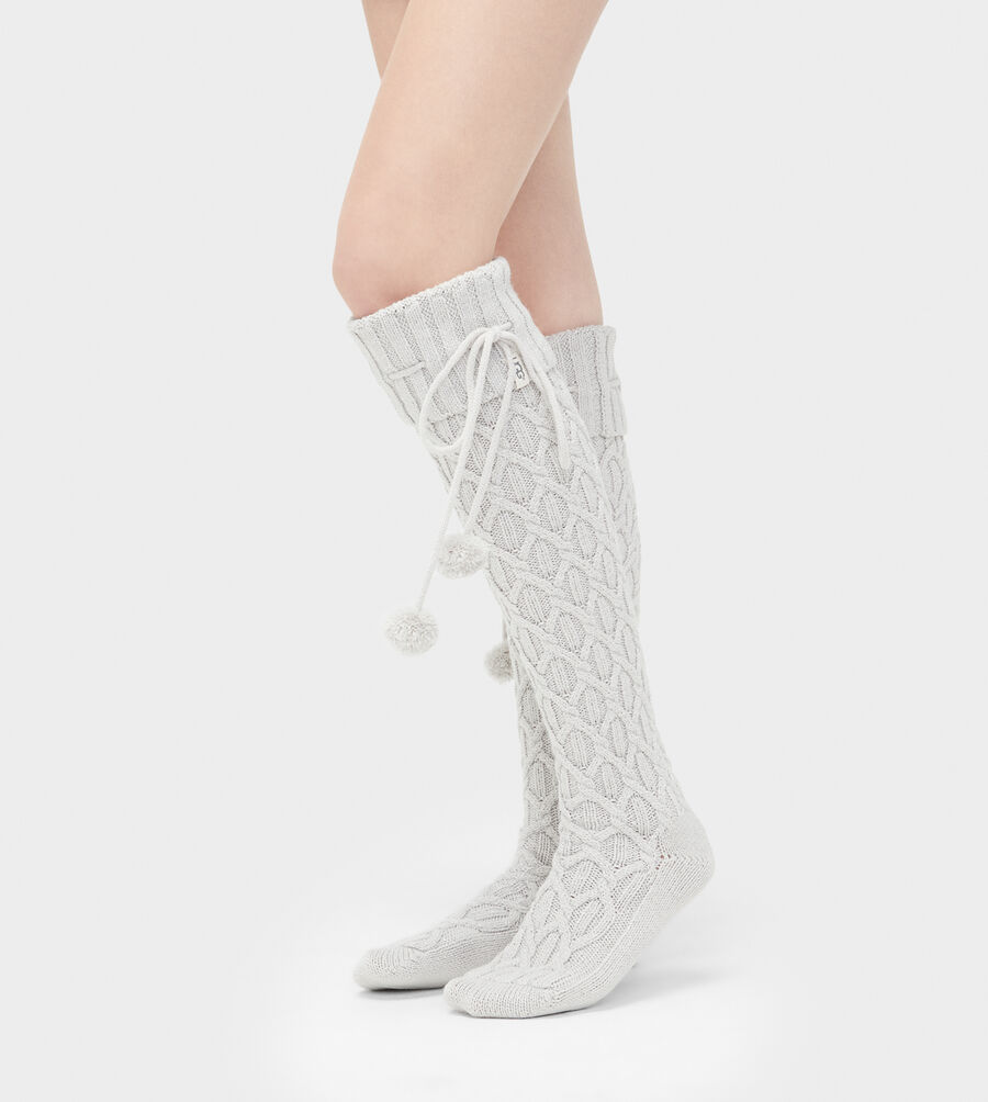 Sparkle Cable Knit Sock - Image 2 of 2