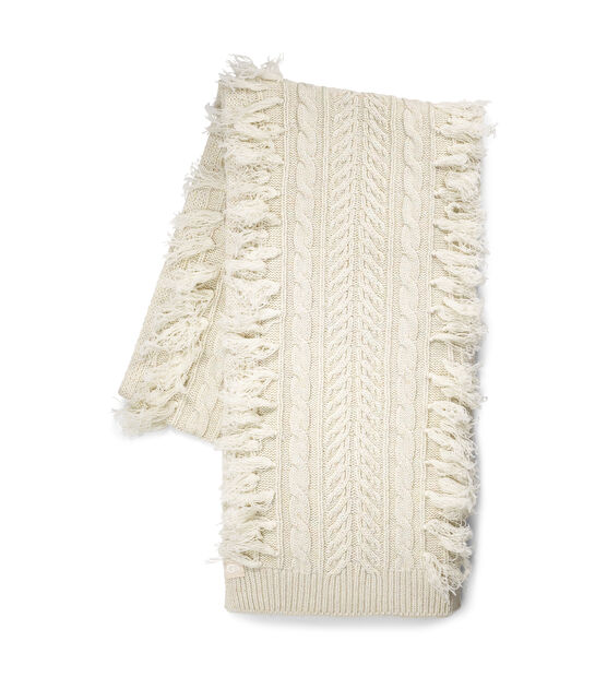 Cable Fringe Scarf