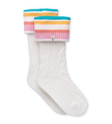 어그 UGG Shaye Tall Rain Boot Sock,MULTI STRIPE