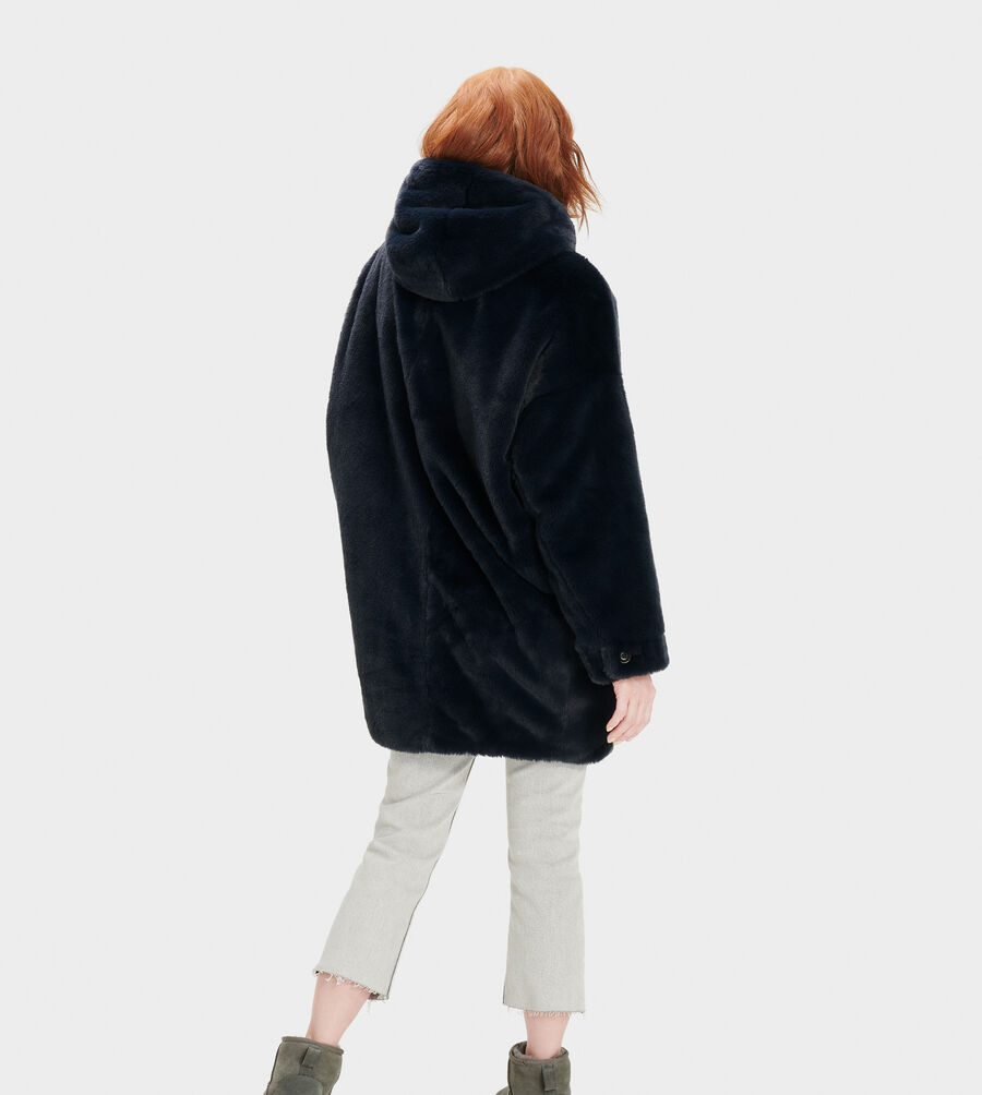 Nori Oversized Coat- Faux Fur - Image 3 of 4
