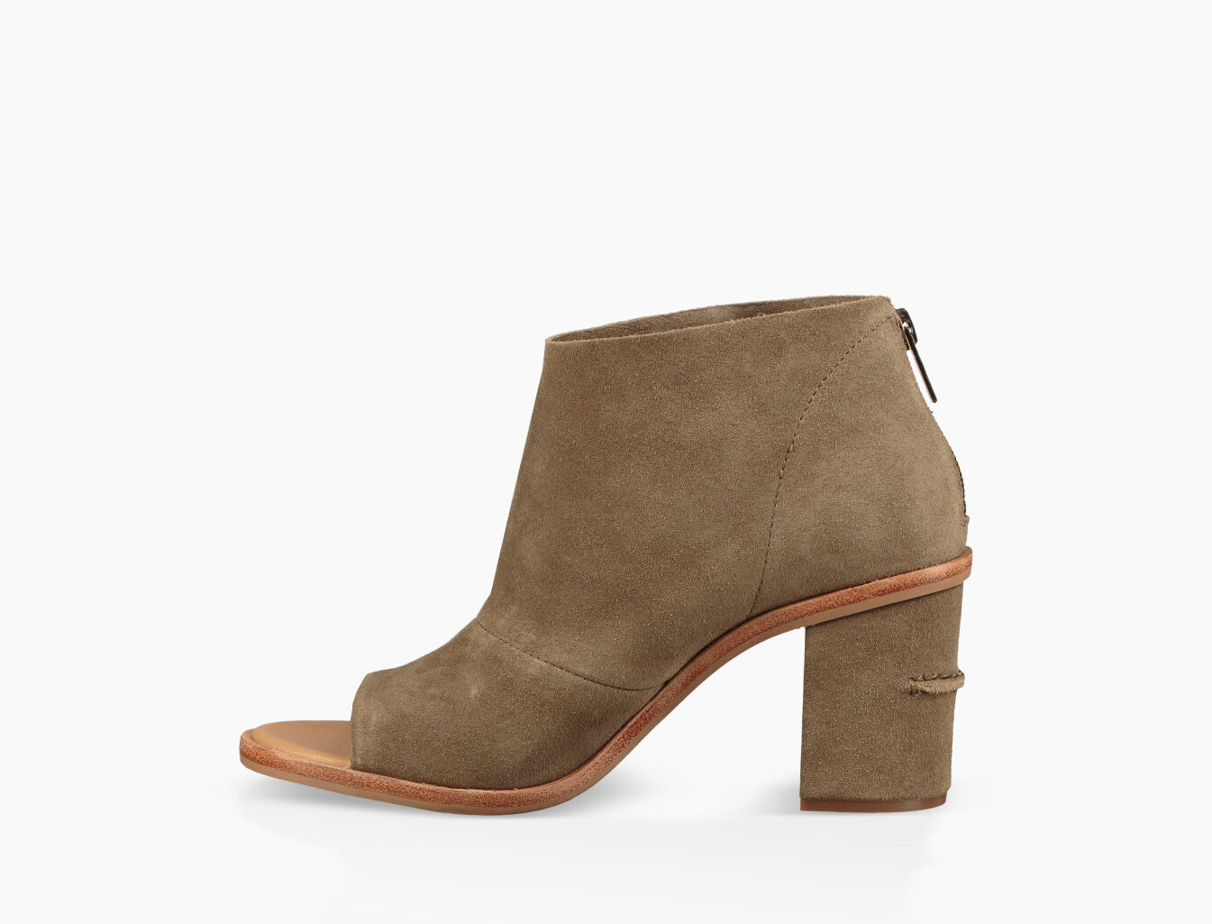 UGG® Ginger Suede Peep-Toe Block Heel Shooties n5EWhTWEzA