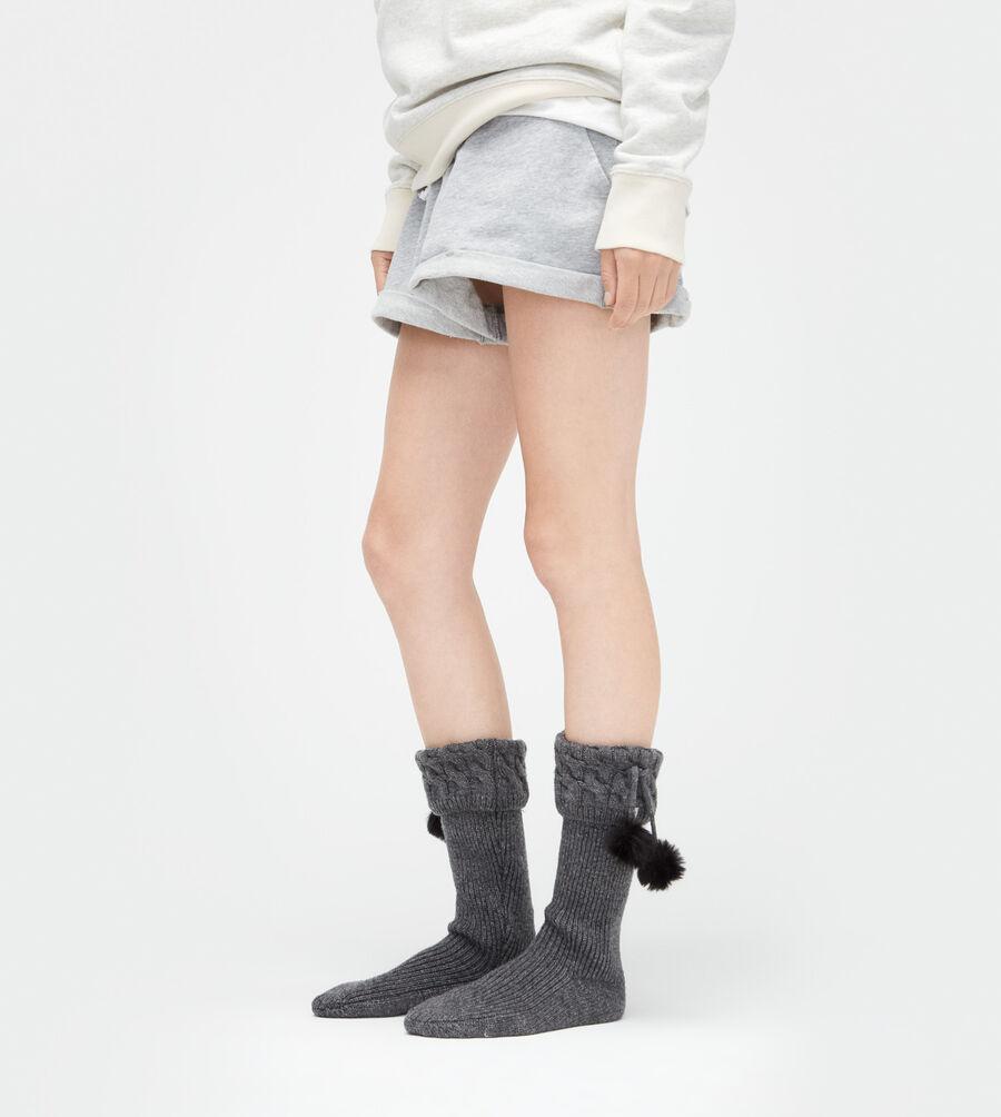 Pom Pom Tall Rainboot Sock - Image 2 of 2