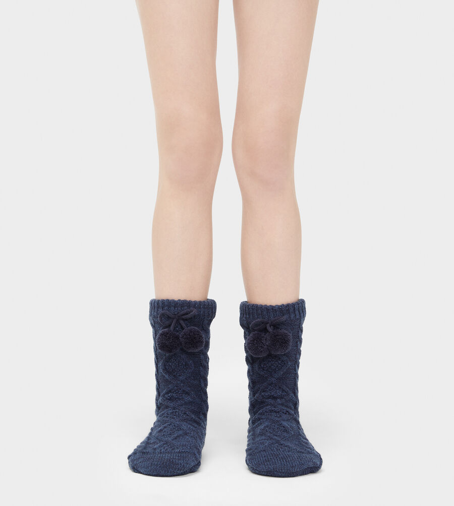 Pom Pom Fleece Lined Crew Sock - Image 1 of 2
