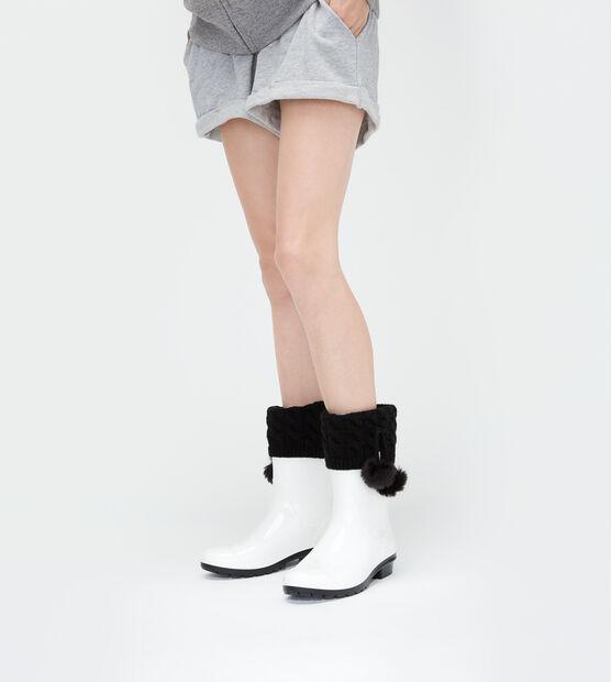 Pom Pom Short Rainboot Sock