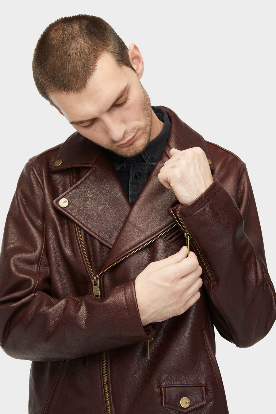 Vaughn Leather Moto Jacket - Image 5 of 6