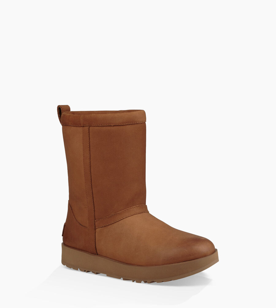 Classic Short Leather Waterproof Boot - Image 2 of 6