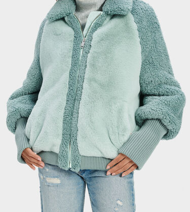 Augusta Sherpa Baseball Jacket Alternative View