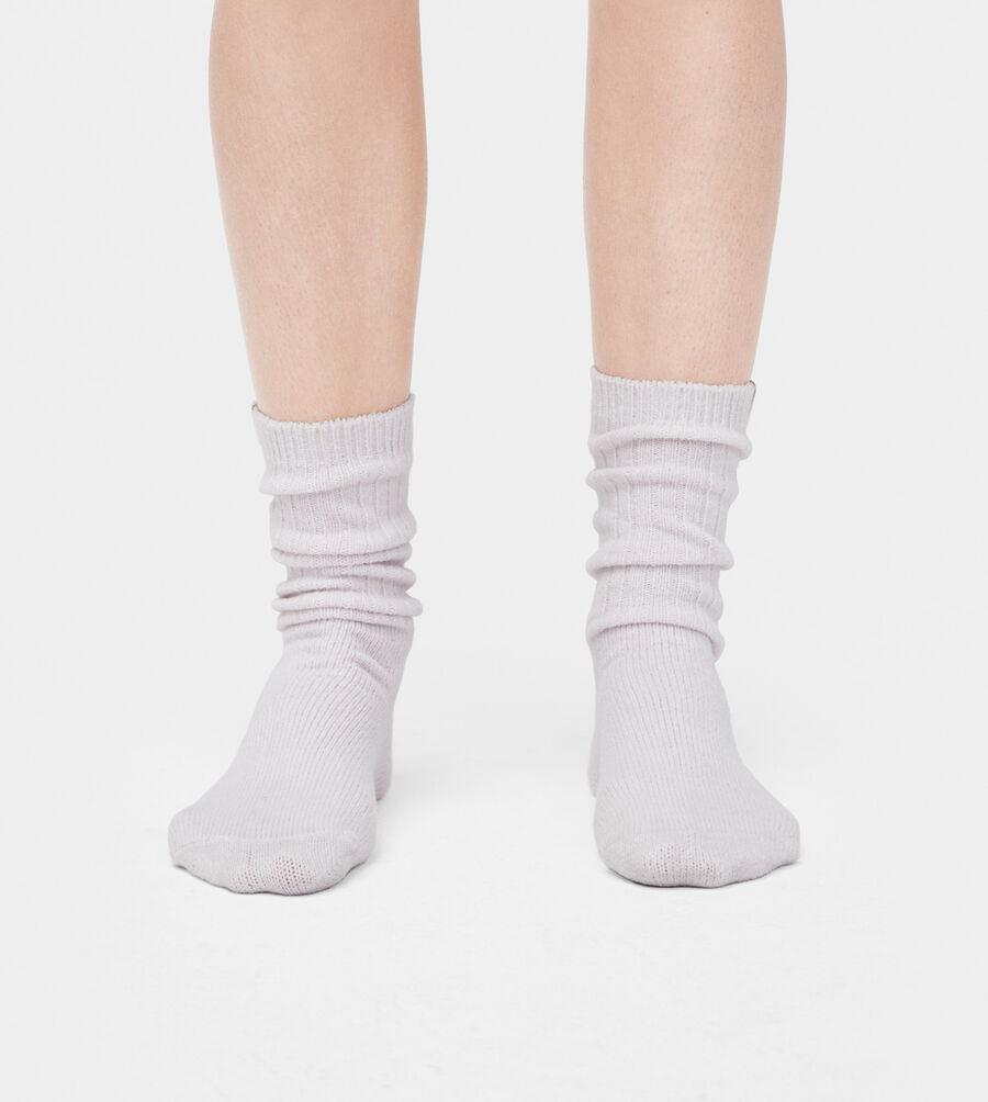 Rib Knit Slouchy Crew Sock - Image 1 of 3