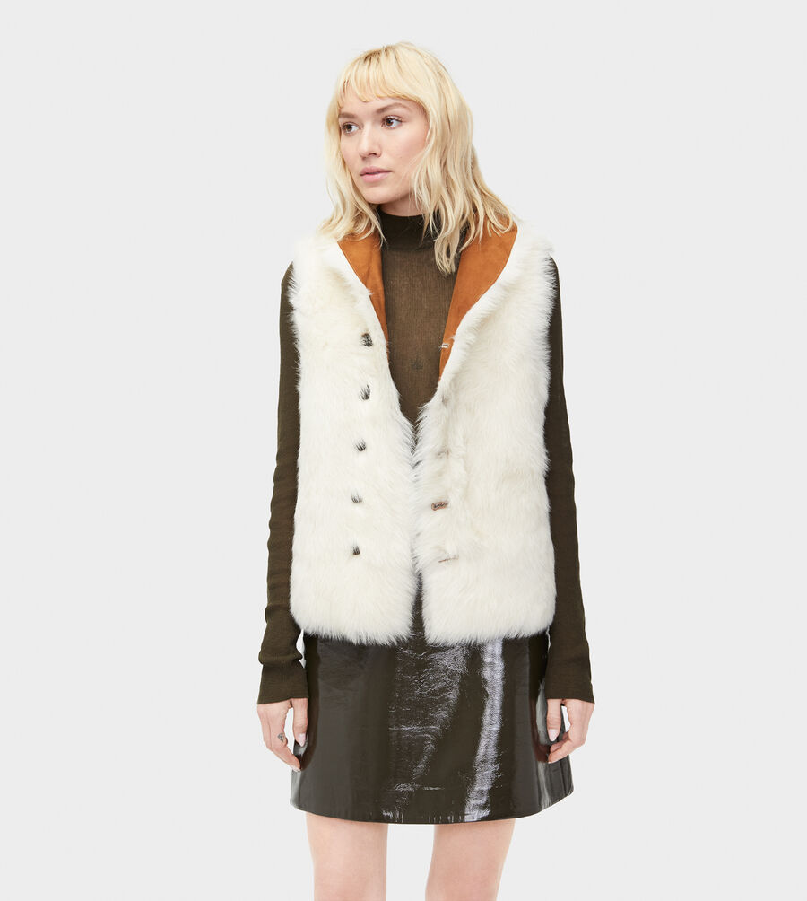Renee Toscana Shearling Vest  - Image 4 of 5