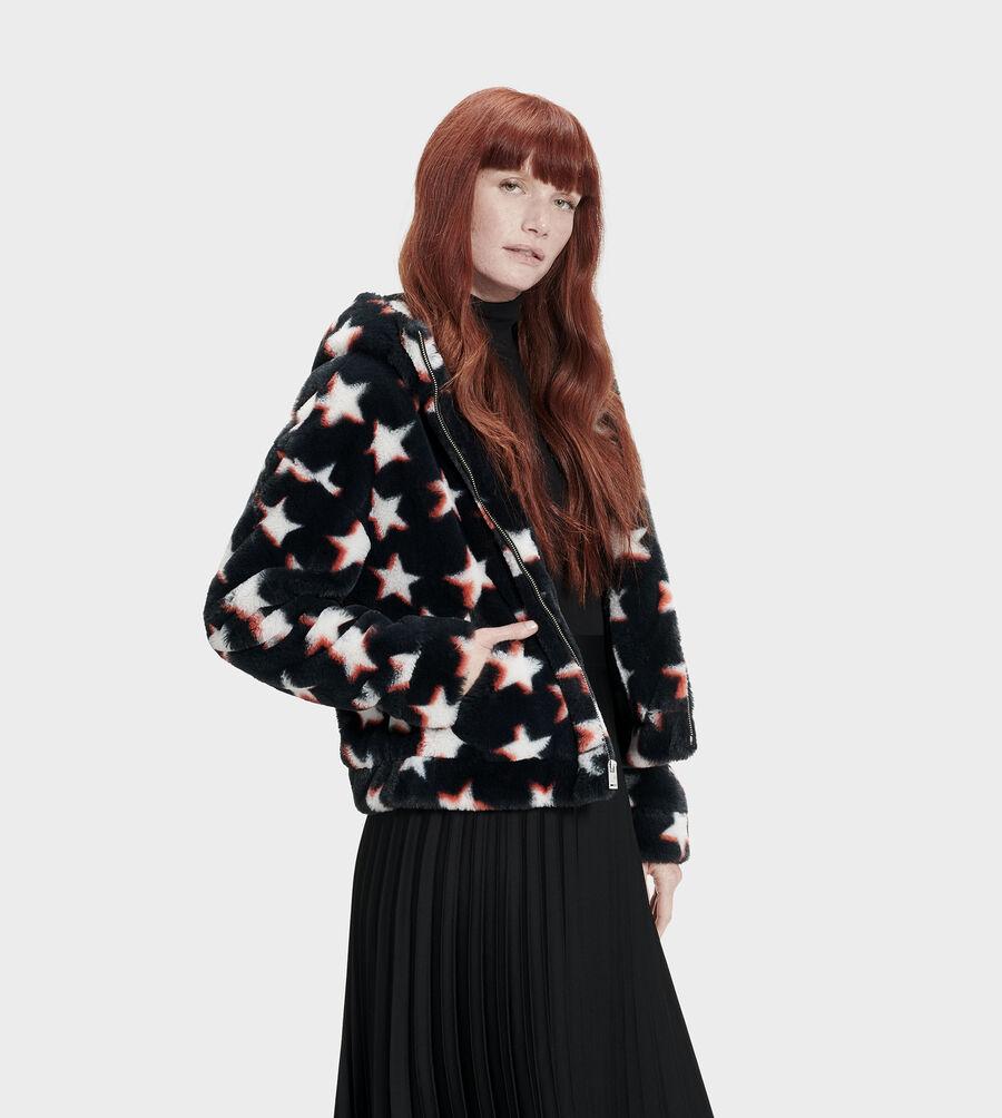 Mandy Faux Fur Hoodie - Image 1 of 6