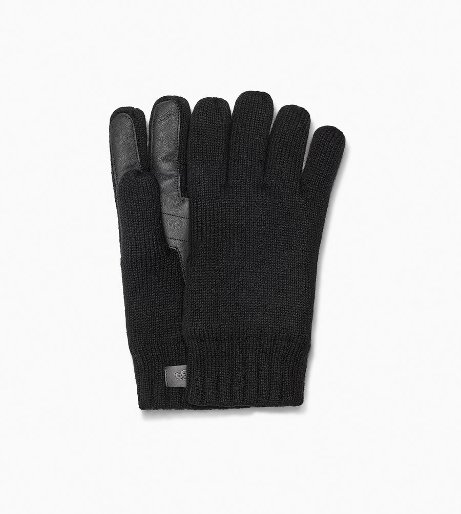 Knit Glove With Palm Patch - Image 1 of 2