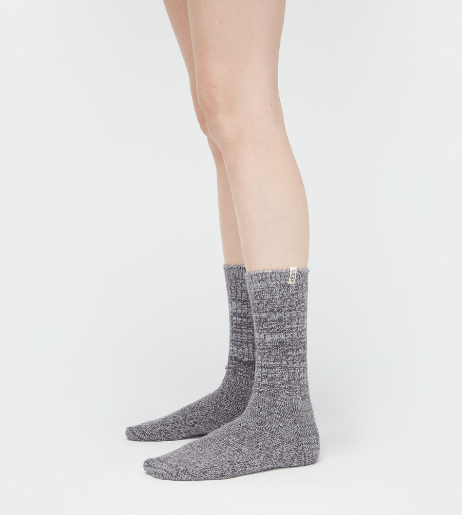 Rib Knit Slouchy Crew Sock - Image 1 of 3