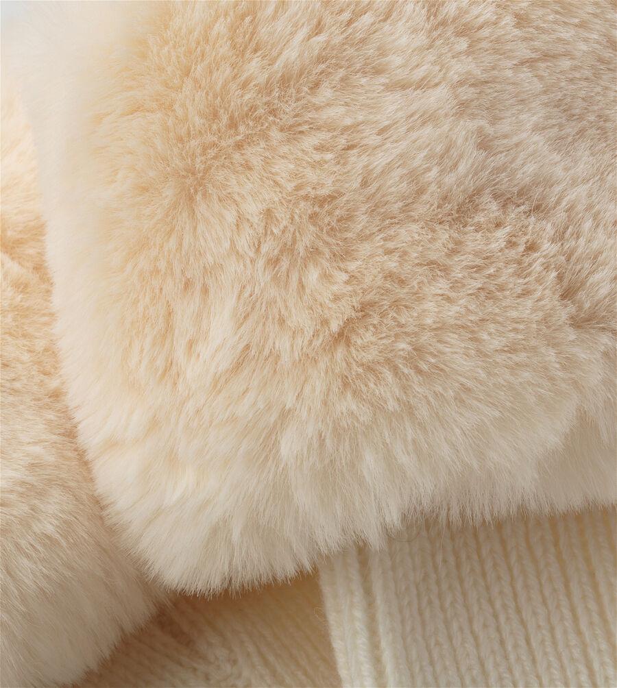Faux Fur Short Rainboot Sock - Image 3 of 3