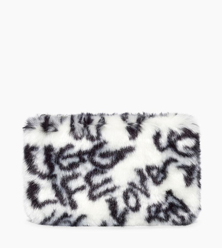 Small Zip Pouch Faux Fur