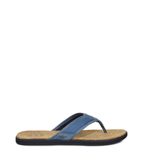 UGG Mens Seaside Flip Flop Cotton Blend In Pacific Blue, Size 10
