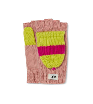 Colorblock Knit Flip Mitten