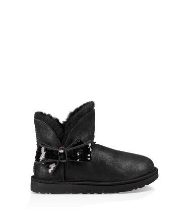 어그 UGG Mini Sequin Bow Boot,BLACK