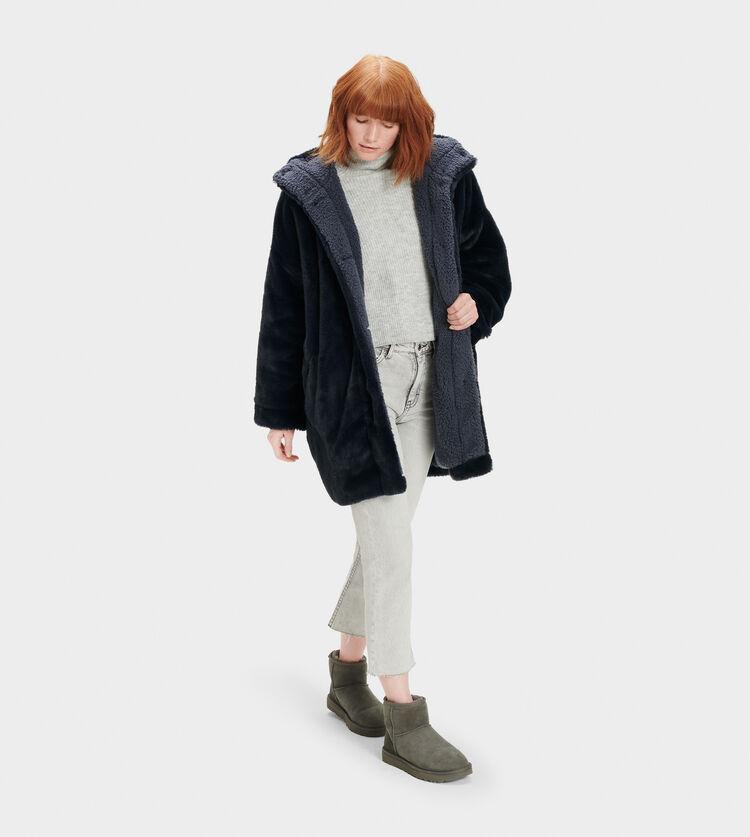 Nori Oversized Coat- Faux Fur