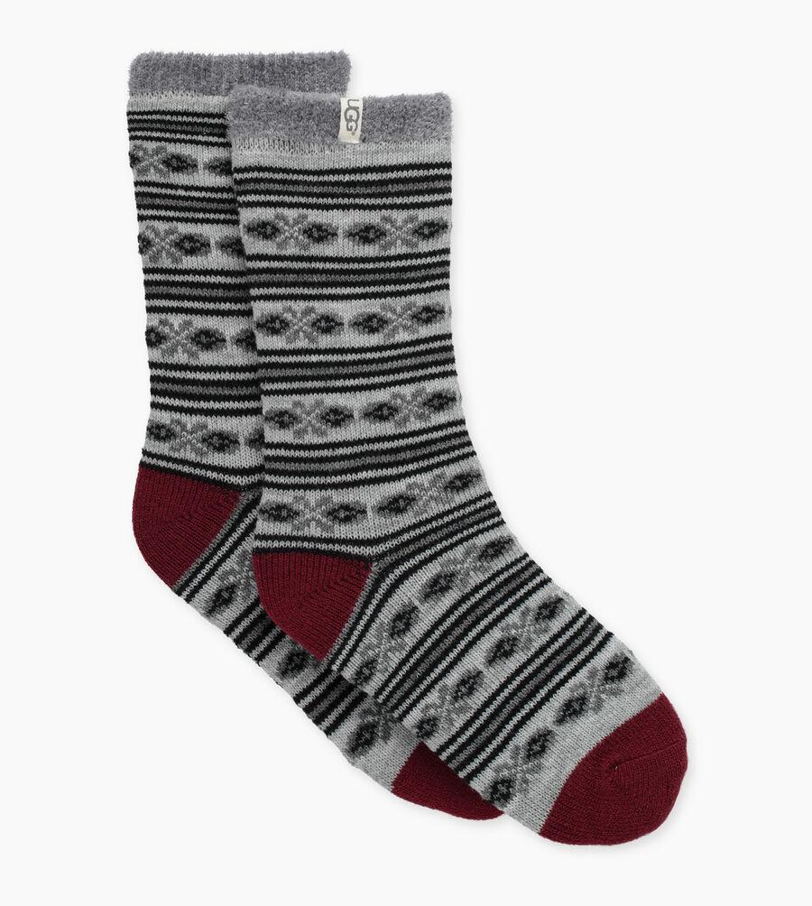 Fair Isle Fleece Lined Sock - Image 1 of 2