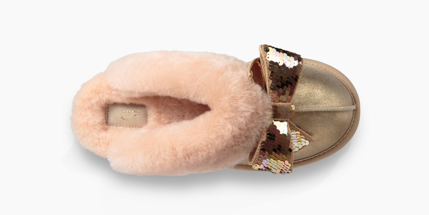 ac73432daa1 Women's Share this product Coquette Sequin Bow Slipper