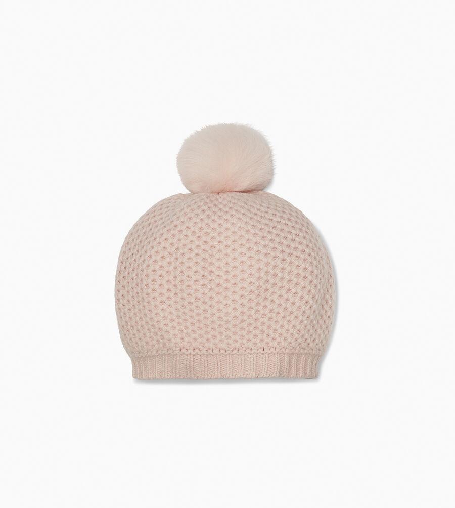 Aislinn Honeycomb Knit Pom Hat - Image 1 of 2