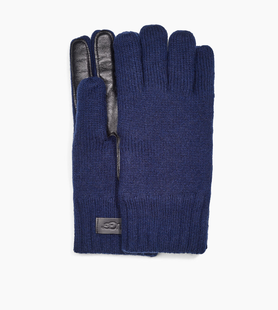 Knit Glove Leather Palm - Image 1 of 3
