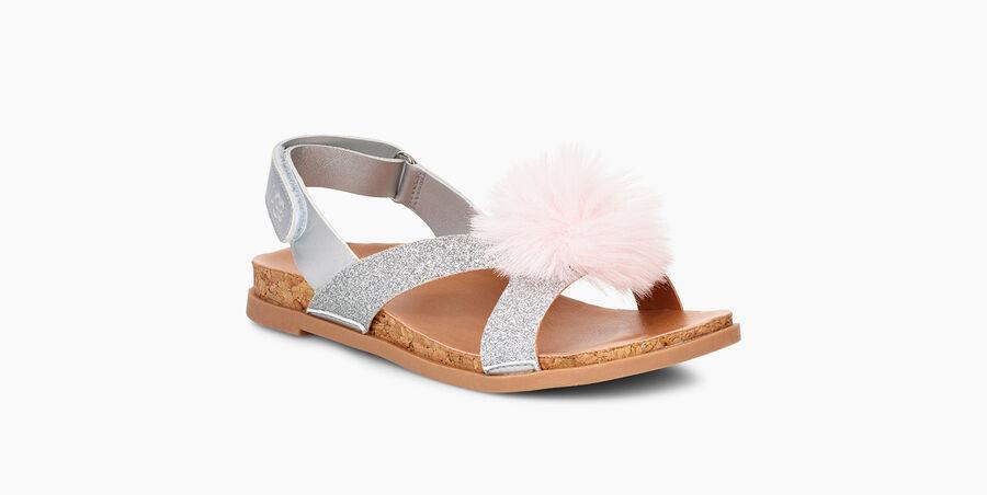 Fonda Glitter Pom Sandal - Image 2 of 6