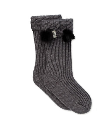 어그 걸즈 부츠 UGG Raana Pom Pom Rain Boot Sock