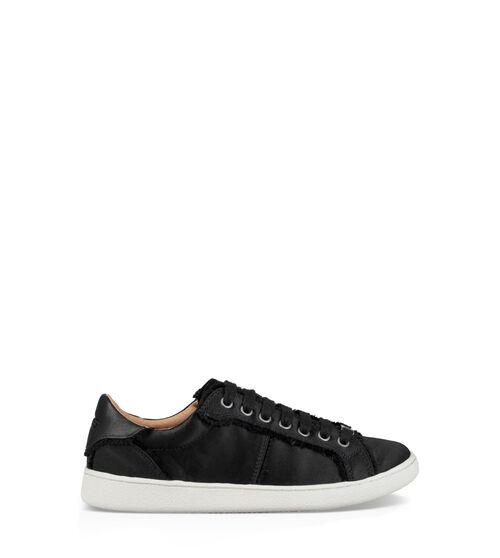 UGG Womens Milo Spill Seam Sneaker Satin In Black, Size 7.5