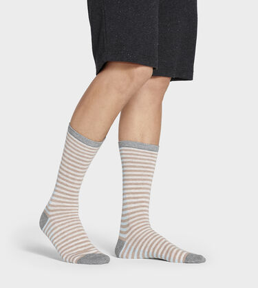 Codie Stripe Crew Sock