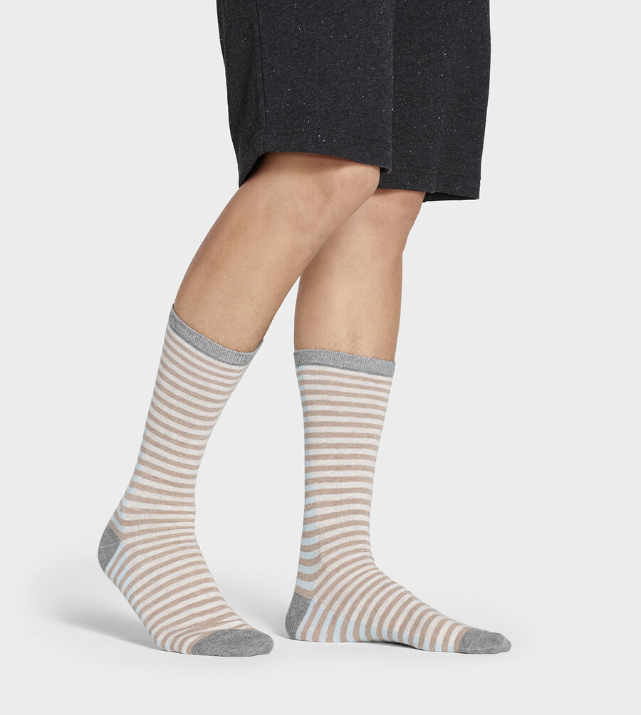 Codie Stripe Crew Sock - Image 1 of 4