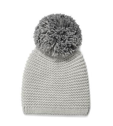 Chunky Knit Beanie with Pom