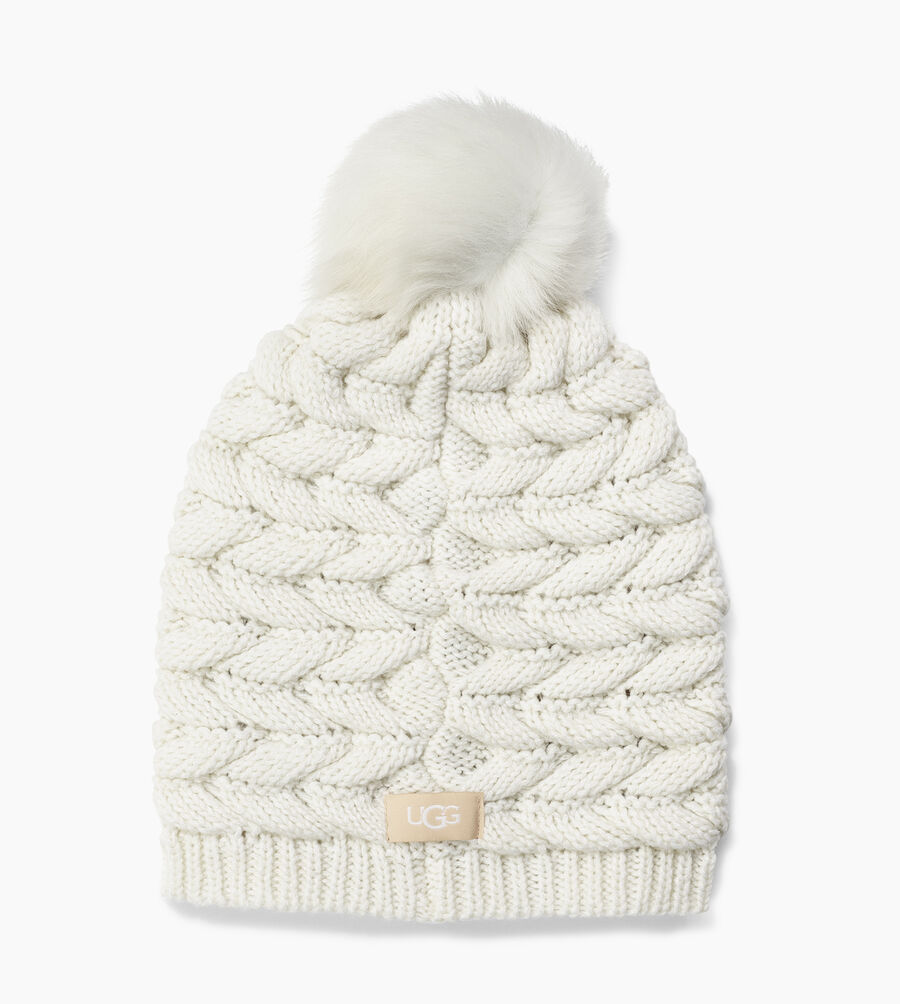 Cable Hat with Pom - Image 2 of 2