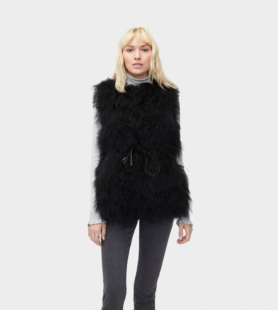 Abbey Mongolian Shearling Vest - Image 4 of 5