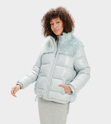 Jada Hooded Puffer- Faux Fur