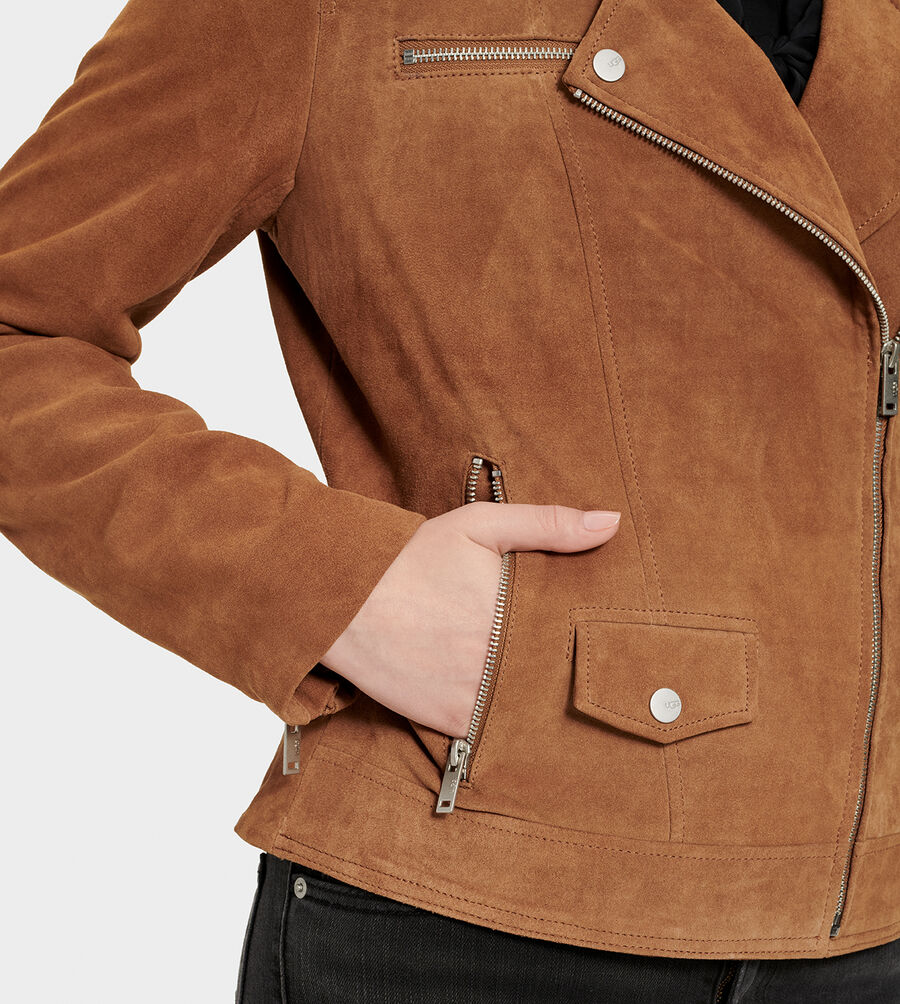 Ronnie Suede Moto Jacket - Image 5 of 6
