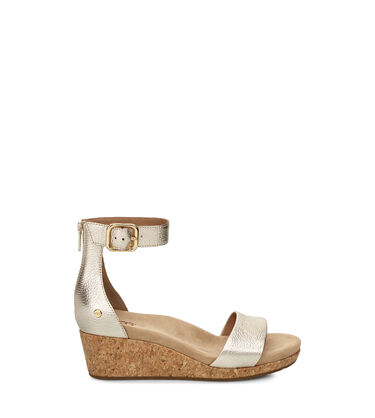Zoe II Metallic Wedge