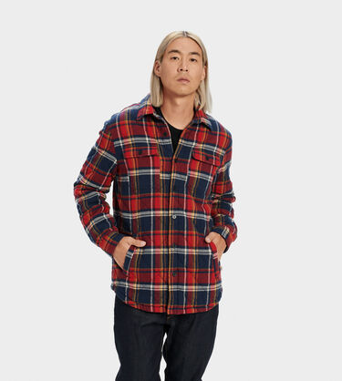 Trent Quilted Shirt Jacket Plaid