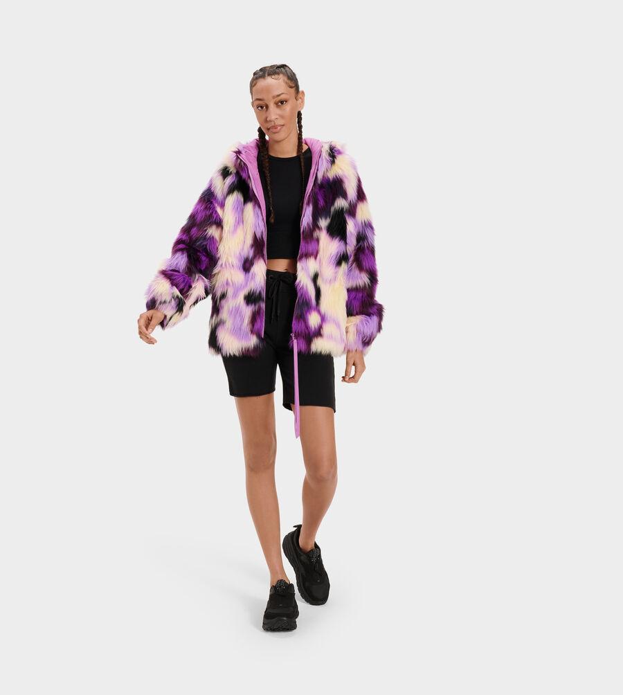 Clove Faux Fur Tie Dye Jacket - Image 1 of 5