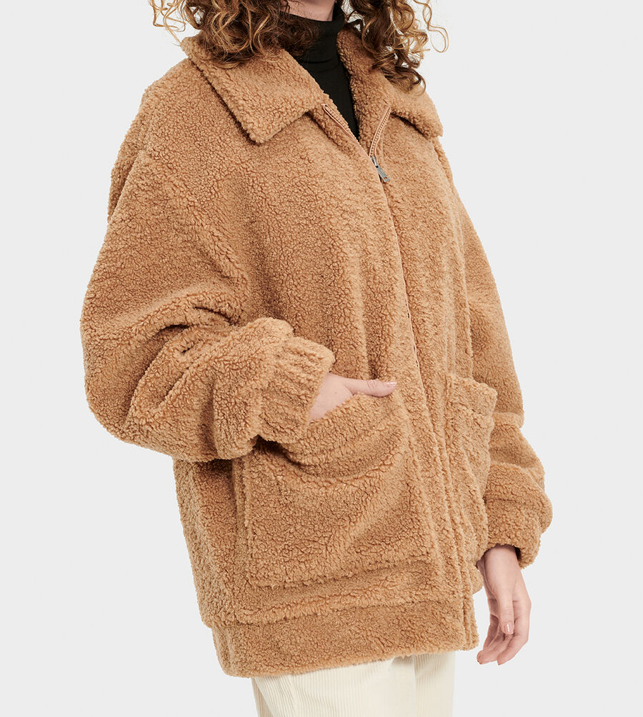Jackeline Teddy Bear Jacket - Image 3 of 6