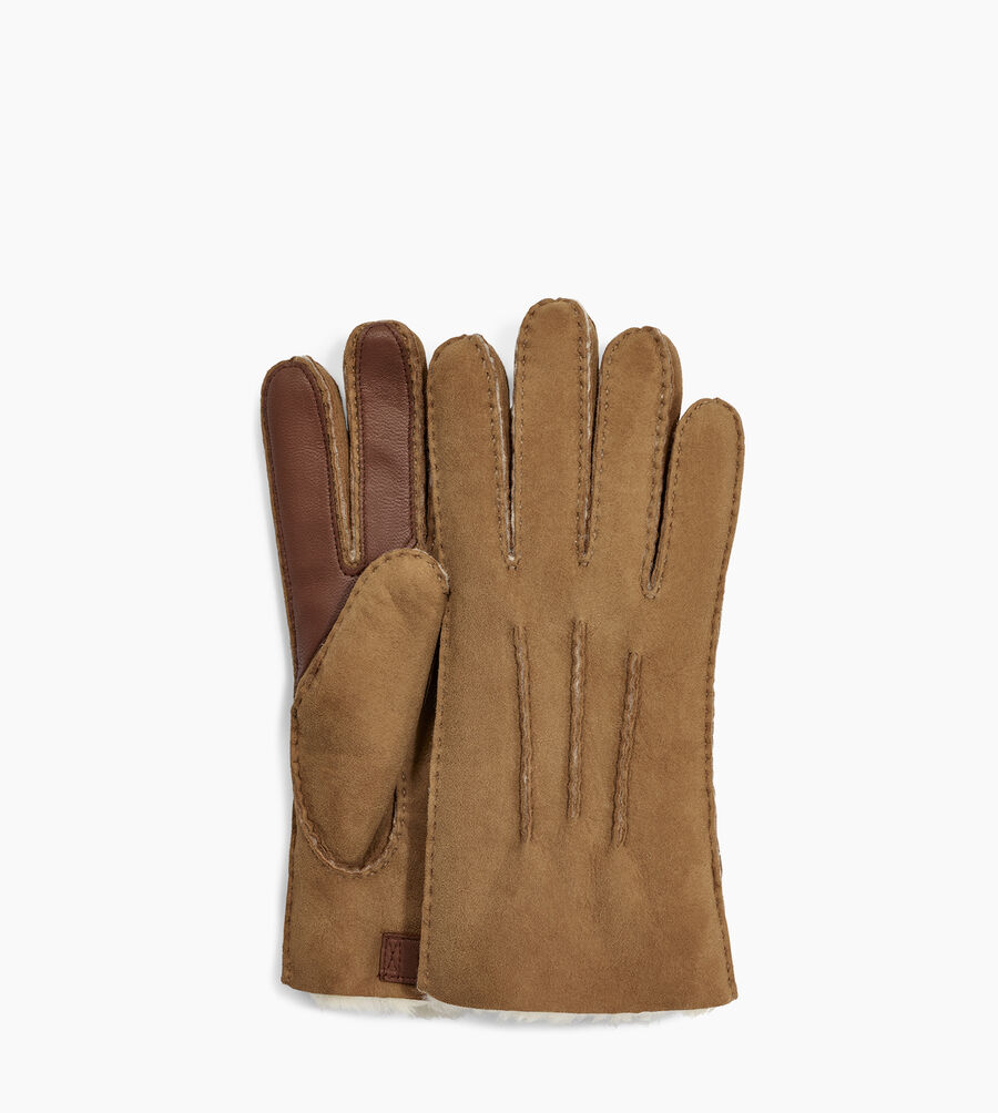 Contrast Sheepskin Tech Glove - Image 1 of 2