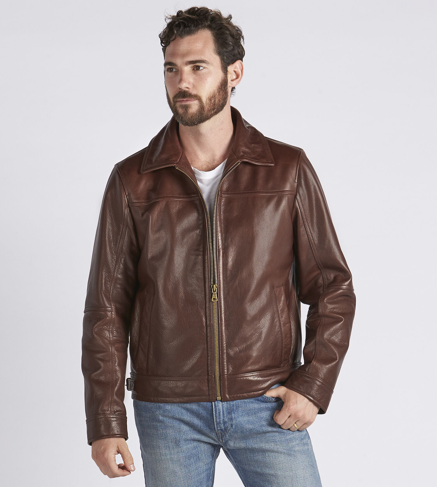 Large mens leather jackets