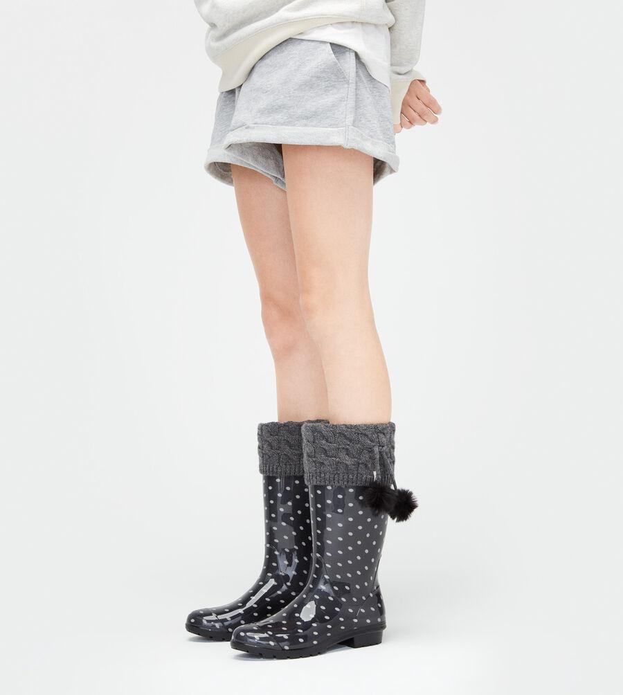 Pom Pom Tall Rainboot Sock - Image 1 of 2