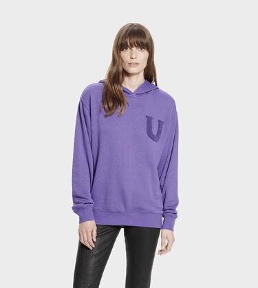 Fuzzy Logo Hoodie Sweatshirt