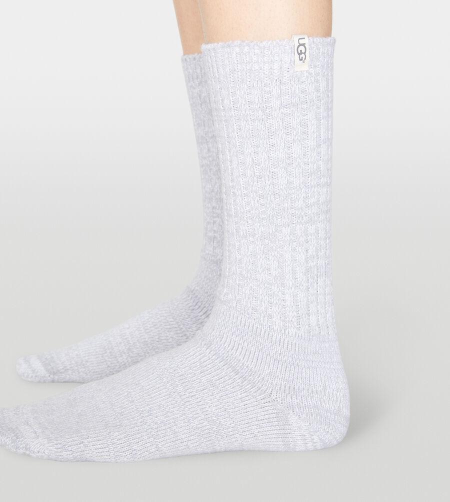 Rib Knit Slouchy Crew Sock - Image 2 of 2
