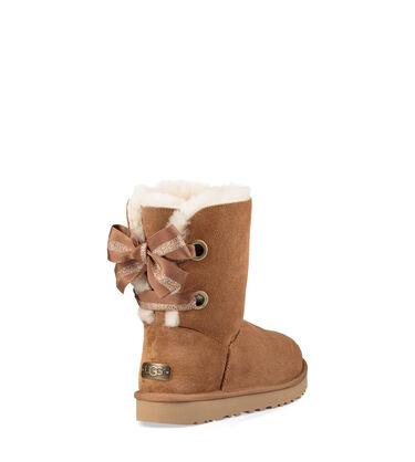 어그 베일리보우 부츠 UGG Customizable Bailey Bow Short Boot,CHESTNUT