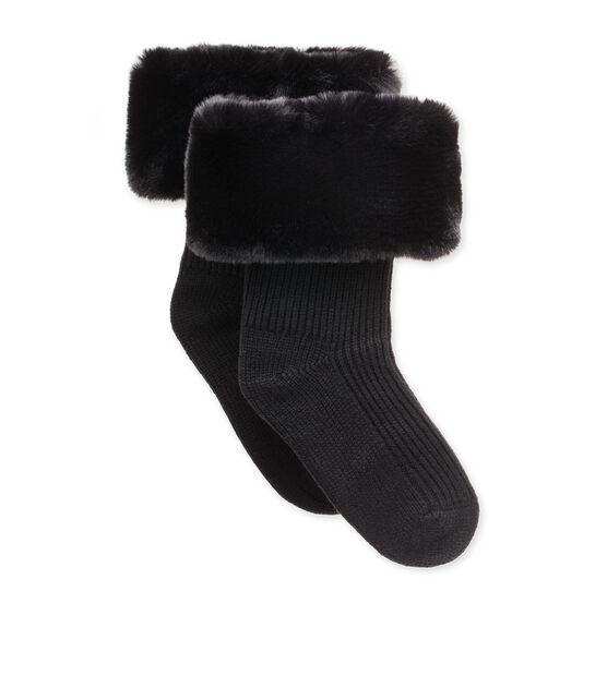 Faux Fur Short Rainboot Sock