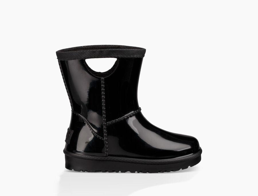 어그 키즈 부츠 UGG Rahjee Rain Boot,BLACK