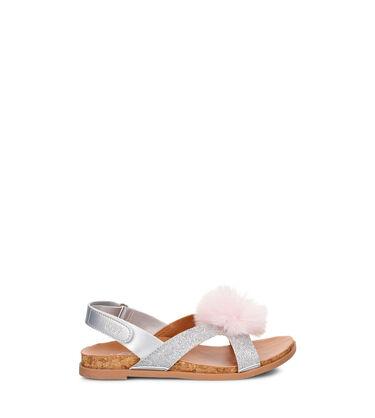 Fonda Glitter Pom Sandal